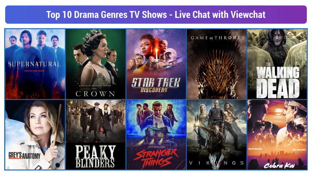 Top 10 Drama Genres TV Shows – Live Chat with Viewchat
