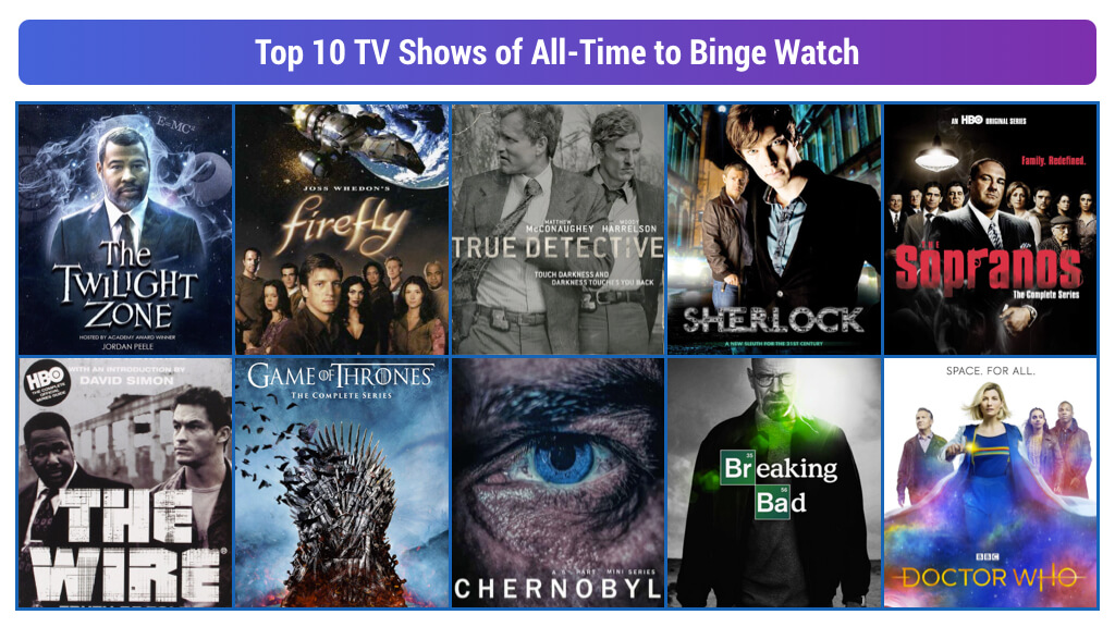Top 10 TV Shows of All-Time to Binge Watch